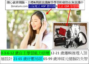 Zena右腦魔法HSP聰明機&光音QSR智慧機